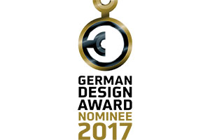 Nominated 3-fold for the German Design Award 2017